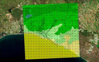 Model output data integration using a Web Map Server