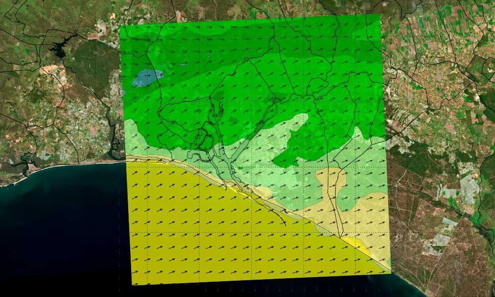 Servidores de mapas para integrar salidas de modelos