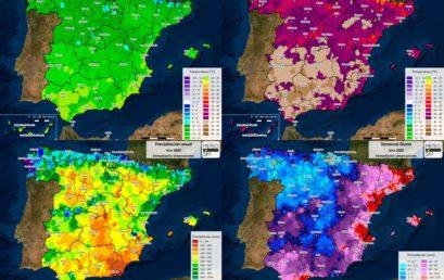 2020, un año muy caluroso y con precipitación cercana a la media climática